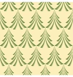 Seamless christmas pattern trees firs on light vector