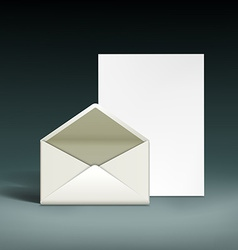 Envelope and a sheet of paper vector
