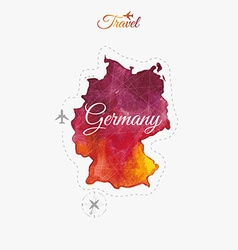Travel around the world germany watercolor vector