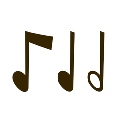 Gold icons set music note melody symbols vector