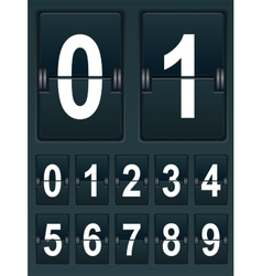 Set numbers for sports scoreboard vector