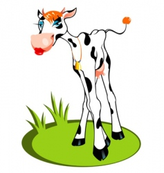 Glamour cow vector