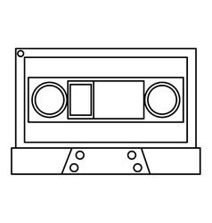 black line cassette vector image