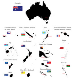 Australia and Oceania vector image