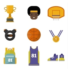 Basketball set vector image