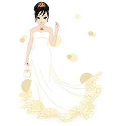 beautiful bride vector image vector image