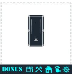 Billiards icon flat vector