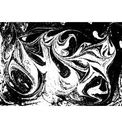 Black and white marbled abstract background vector