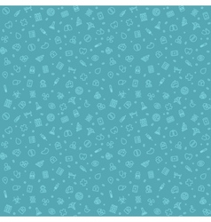 Blue Seamless Medical Pattern vector image vector image