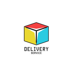 box logo logistic delivery service icon isometric vector image vector image