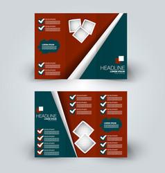 brochure mock up design template vector image