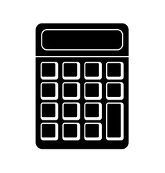 Calculator math school pictogram vector