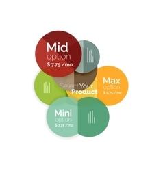 Circle business option diagrams vector