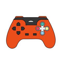 Color image cartoon control video games vector