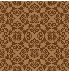damask wallpaper pattern vector image