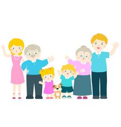 family cartoon character vector image