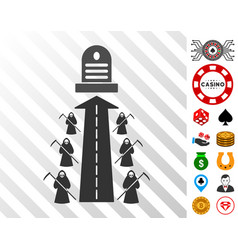 Fatal road icon with bonus vector