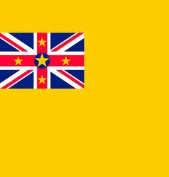 Flag niue flat style vector