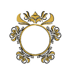 floral frame border decorative design element and vector image