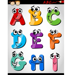funny letters alphabet cartoon vector image vector image