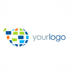 Globe technology logo vector
