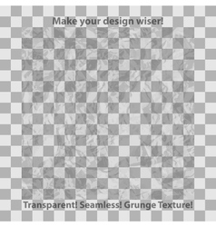 Grunge and checkered seamless patterns vector image