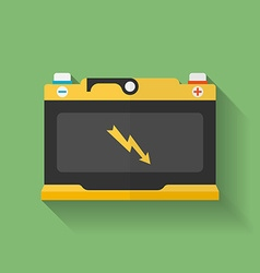 Icon of car accumulator battery flat style vector