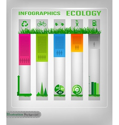 Infographic ecology design vector image