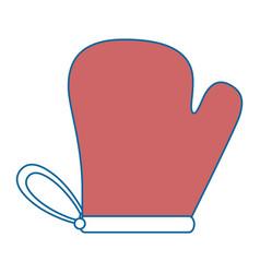 Kitchen glove isolated icon vector