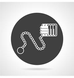Monkey fist black round icon vector image