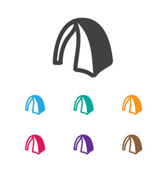 of travel symbol on circus vector image