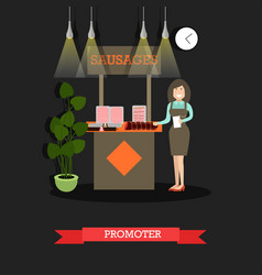 Promoter concept in flat style vector
