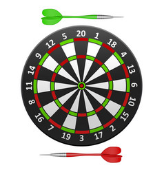 realistic detailed dart board vector image
