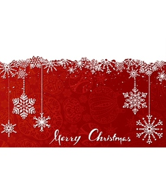 Red Christmas background vector image vector image