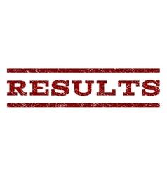 Results watermark stamp vector
