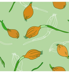 Seamless pattern with golden onion vector image