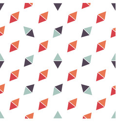 Seamless pattern with red and blue triangles vector