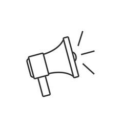 Speaker outline icon vector