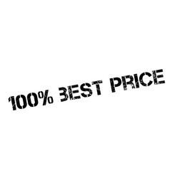 100 percent best price rubber stamp vector image vector image