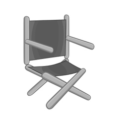 Directors chair icon black monochrome style vector