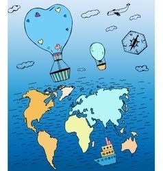 Air Balloons Travel 01 A vector image