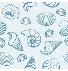 Sea shell hand drawn pattern vector
