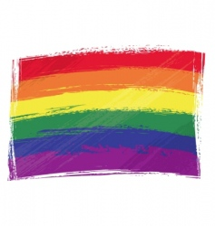 grunge rainbow flag vector image