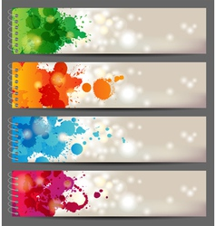 Splash banners vector