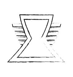 Triangle shield secure symbol sketch vector