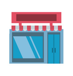 Shop store building vector