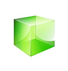Box green glossy vector