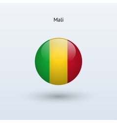 Mali round flag vector