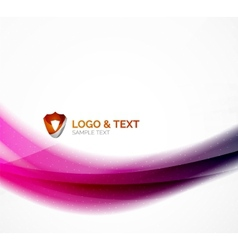Blurred shiny wave purple and blue colors vector image