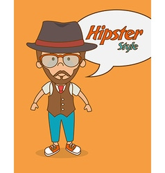 Hipster lifestyle design vector